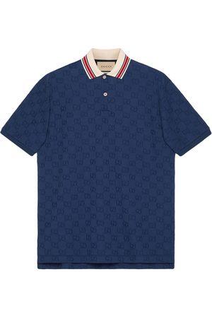 Gucci Men Polo Shirts - GG embroidered polo shirt