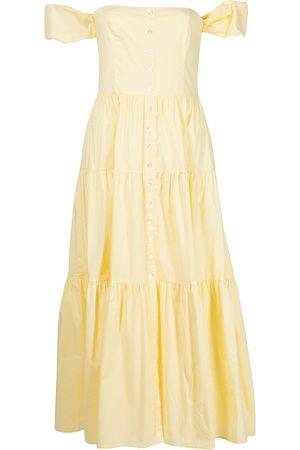 Staud Women Strapless Dresses - Off-shoulder flared midi dress