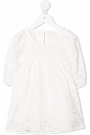 Zimmermann Kids Broderie-anglaise smocked blouse