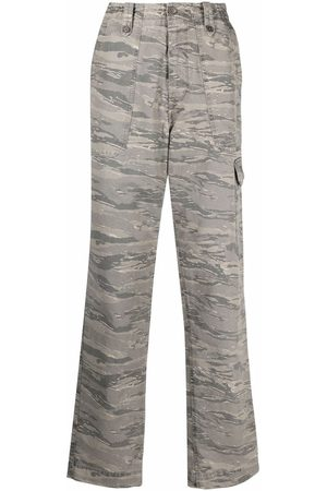 Zadig & Voltaire Camouflage print cargo trousers - Grey