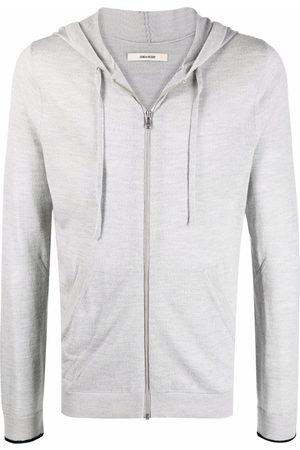 Zadig & Voltaire Clash merino zip-up hoodie - Grey