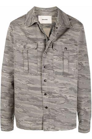 Zadig & Voltaire Men Jackets - Bertie camouflage-print shirt jacket - Grey