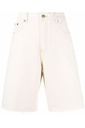 12 STOREEZ Denim bermuda shorts - Neutrals