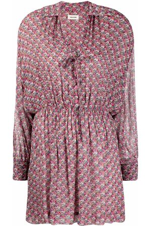 Zadig & Voltaire Skull-print pleated shirtdress