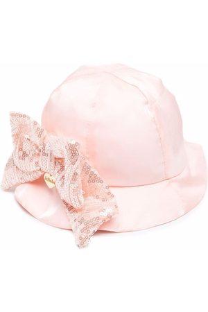 Le Bebé Enfant Bow-detail sun hat - Neutrals