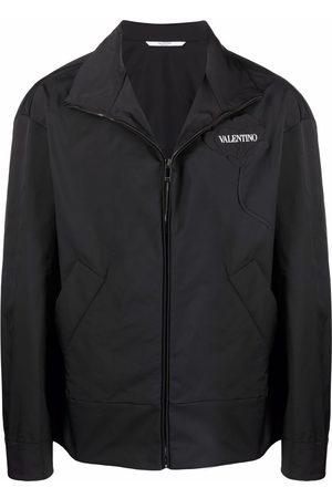 VALENTINO Men Jackets - Garden floral-appliqué jacket