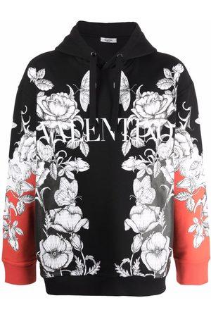 VALENTINO Men Long sleeves - Logo-print long-sleeve hoodie