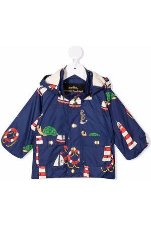 Mini Rodini Rainwear - Turtle hooded rain jacket