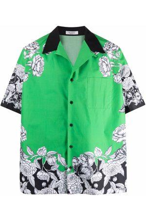 VALENTINO Men Shirts - Floral-print cotton shirt