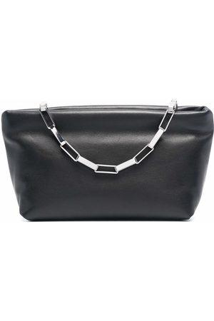The Attico Women Clutches - Chain leather clutch bag
