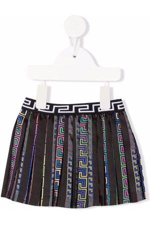 VERSACE Greca pattern pleated skirt