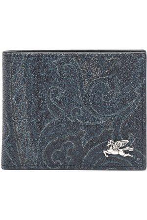 Etro Men Wallets - Paisley-print bi-fold wallet