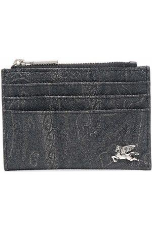 Etro Paisley-print leather cardholder