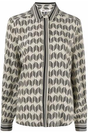 PORTS 1961 Abstract pattern-print silk shirt