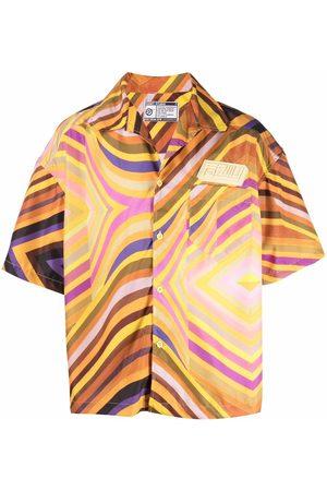 Formy Studio Men Short sleeves - Stripe-print short-sleeved shirt