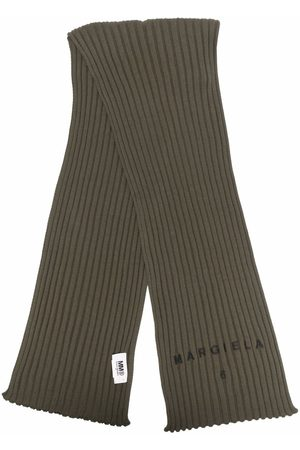 MM6 MAISON MARGIELA Logo-embroidered rib-knit scarf