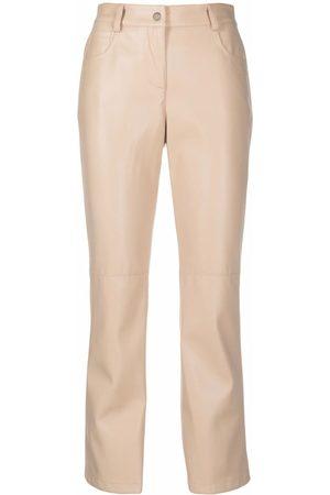 SEMICOUTURE Straight leg trousers - Neutrals