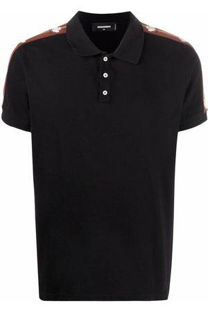 Dsquared2 Men Polo Shirts - Side stripe-detail polo shirt