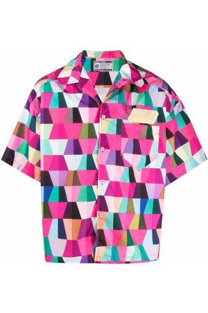 Formy Studio Men Short sleeves - Geometric-print short-sleeved shirt