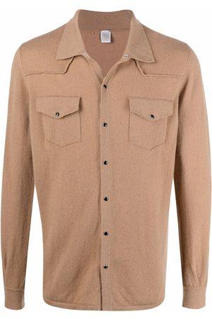 ELEVENTY Men Cardigans - Shirt-style cashmere cardigan