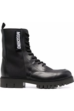 Moschino Men Ankle Boots - Logo-patch ankle boots