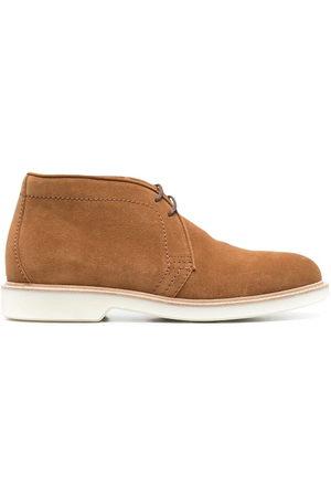 Brunello Cucinelli Men Lace-up Boots - Lace-up suede boots - Neutrals