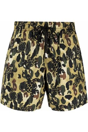 Palm Angels Men Swim Shorts - X Vilebrequin camouflage-print swim shorts