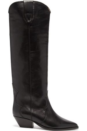 Isabel Marant Denvee Suede Knee-high Boots - Womens