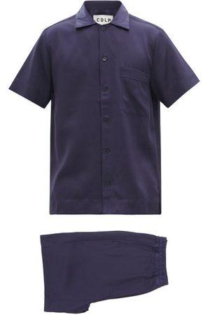 CDLP Lyocell-twill Pyjamas - Mens - Navy