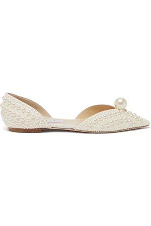 Jimmy Choo Women Flat Shoes - Sabine Faux-pearl Embellished D'orsay Flats - Womens