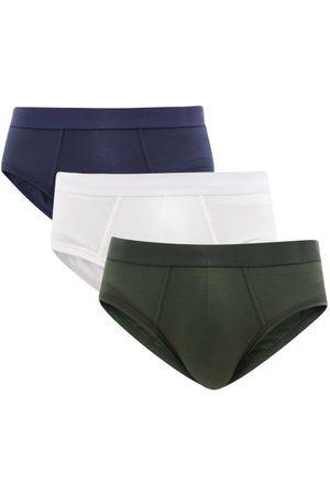 CDLP Men Briefs - Pack Of Three Lyocell-blend Briefs - Mens - Multi