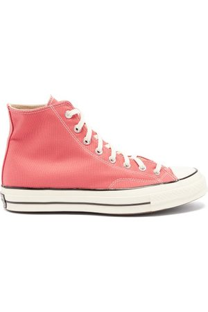 Converse Men Sneakers - Chuck 70 High-top Recycled-canvas Trainers - Mens - Light