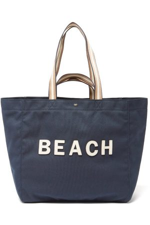 Anya Hindmarch Women Tote Bags - Household Beach Recycled-canvas Tote Bag - Womens - Navy