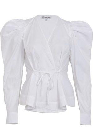 Ganni Belted blouse