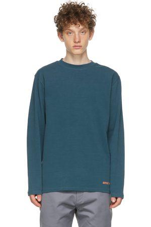 Affix Blue Heavy Jersey Micro Logo Long Sleeve T-Shirt