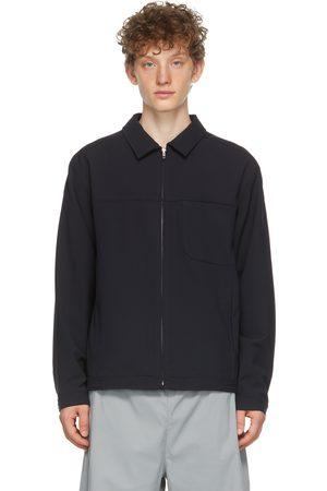Affix Navy Boxed Blouson Jacket