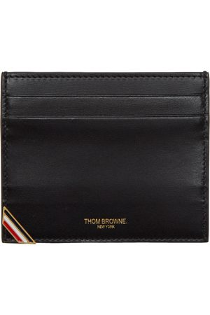 Thom Browne Black Double Sided Card Holder