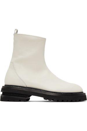 ADYAR SSENSE Exclusive White Zip-Up Boots