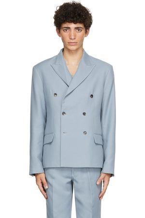 Second/Layer Men Blazers - SSENSE Exclusive Blue Pico Blazer