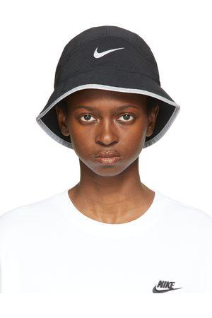 Nike Women Hats - Black Dri-FIT Perforated Running Bucket Hat