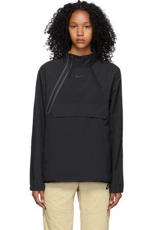 Nike Women Sports Jackets - Black Sportswear Tech Pack Zip Jacket