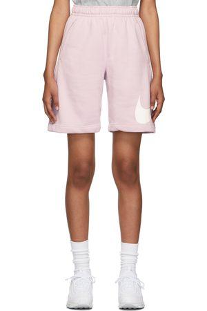 Nike Women Sports Shorts - Purple Fleece Sportswear Club Shorts