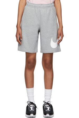 Nike Women Sports Shorts - Grey Fleece Sportswear Club Shorts
