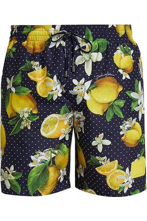 Dolce & Gabbana Men Swim Shorts - Men's Lemon Polka Dot Swim Shorts - - Size Small