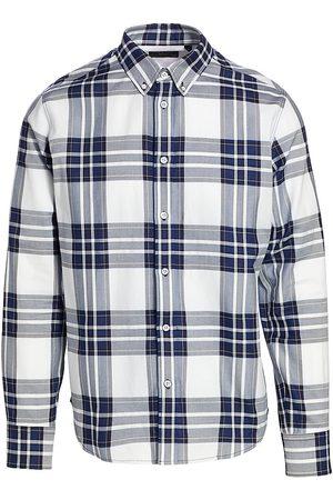 RAG&BONE Men Denim - Men's Tomlin Plaid Button-Up Shirt - Indigo Plaid - Size Medium