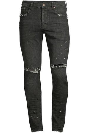 Purple Brand Men Slim - Men's P001 Slim-Fit Over Spray Jeans - - Size 40