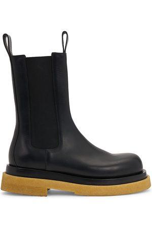 Bottega Veneta Men Chelsea Boots - Men's Wardrobe 02 Crepe Sole Leather Boots - - Size 9