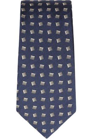 Dolce & Gabbana Men Bow Ties - Geometric-print silk tie