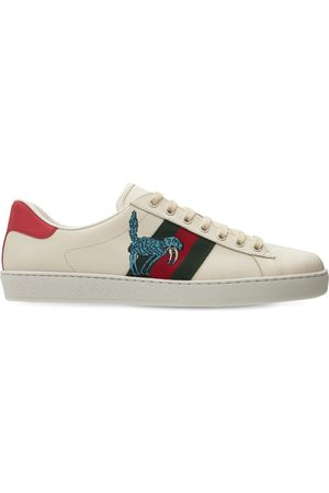 Gucci Freya Hartas New Ace Leather Sneakers