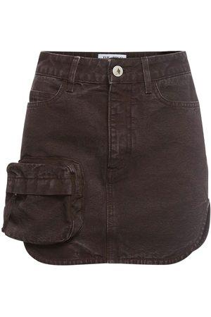 The Attico Women Mini Skirts - Cotton Canvas Mini Skirt W/ Front Pocket